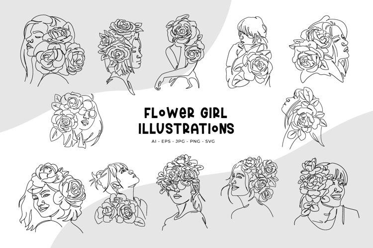 Flower Girl Illustrations