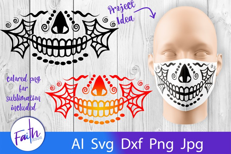 Halloween Face Mask Svg Cut File
