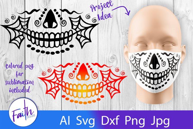 Halloween Face Mask Svg Cut File