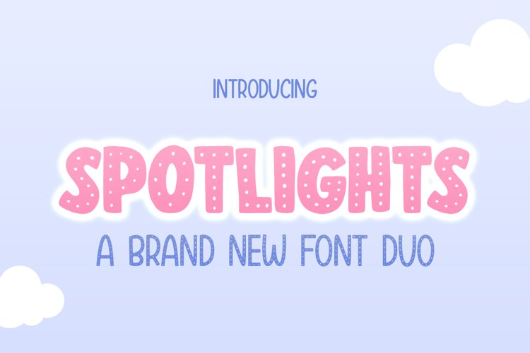 Spotlights Font Duo example image 1