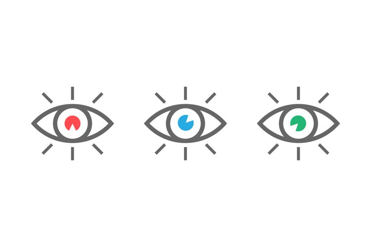 Eyes icons set. Look and Vision icons. Eyes vector symbols example image 1