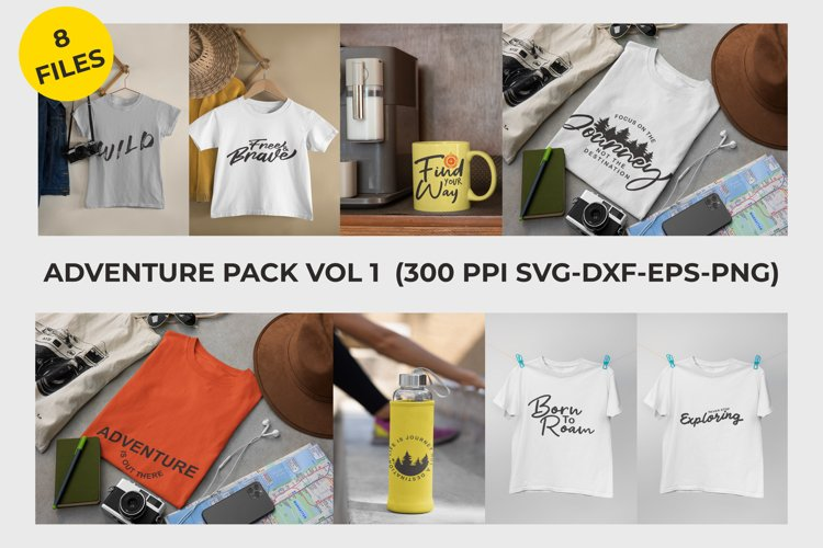 Adventure Pack Vol 1 - SVG DXF EPS PNG 300PPI example image 1
