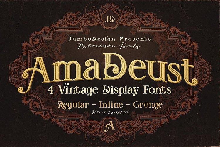 AmaDeust - Display Font example image 1