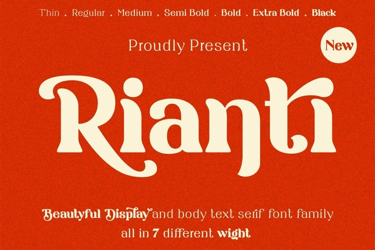 Rianti - beautiful serif font family