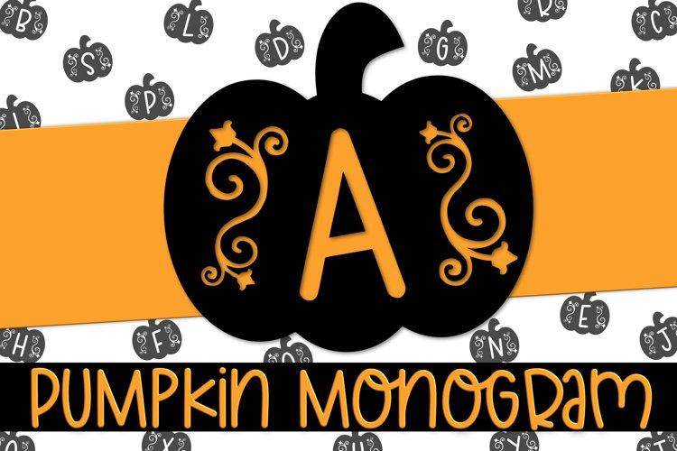 Pumpkin Monogram - A Fall Monogram Font