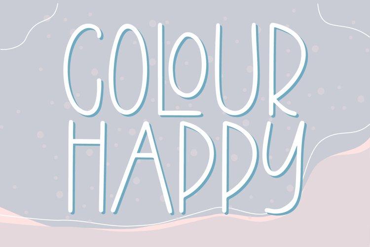 Colour Happy - Fun Sans Serif Font example image 1
