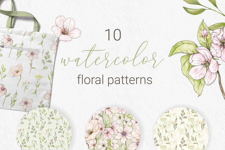 10 watercolor floral patterns