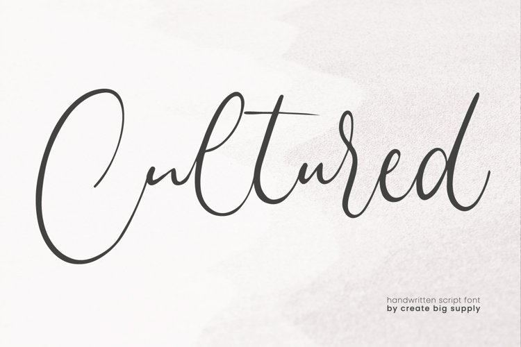 Cultured Handwriting Font example image 1