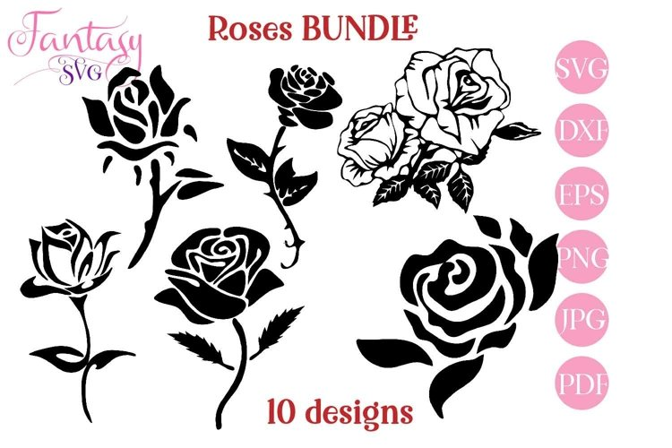 Roses - BUNDLE svg cut files