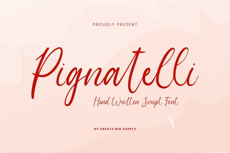 Pignatelli Script Font example image 1