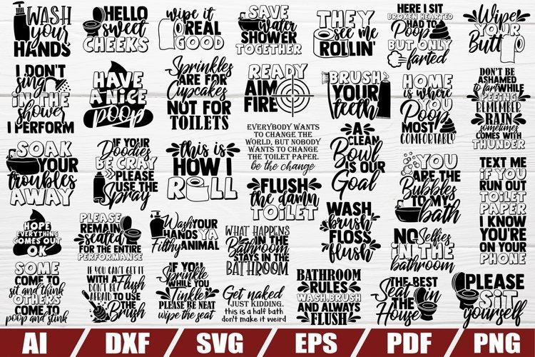 Bathroom SVG Bundle | Funny Bathroom Sayings | Quotes Decor
