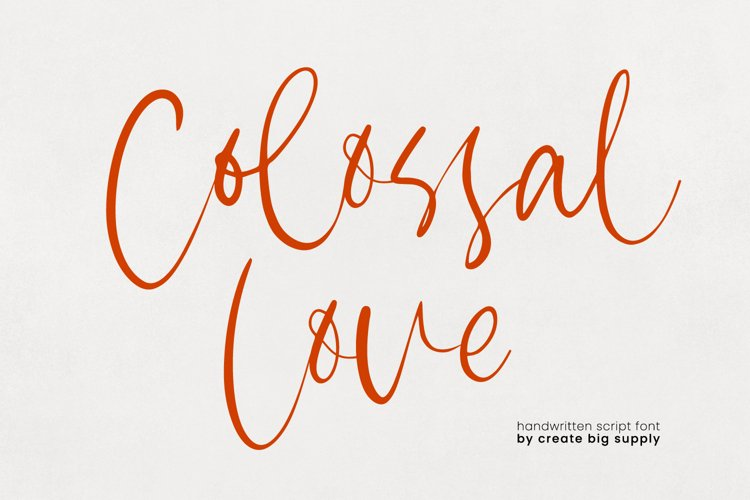 Colossal Love Handwriting Font example image 1