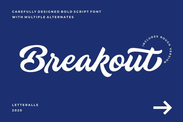 Breakout Script Font example image 1