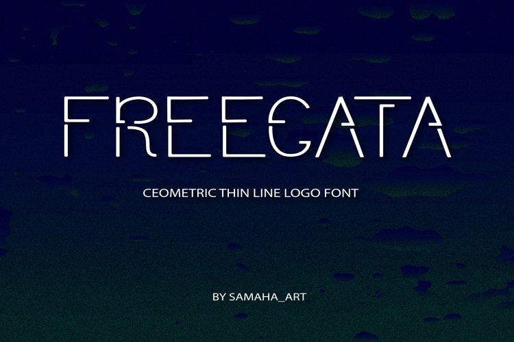 Modern Sans Serif font. FREEGATA - Thin Line Logo Font.