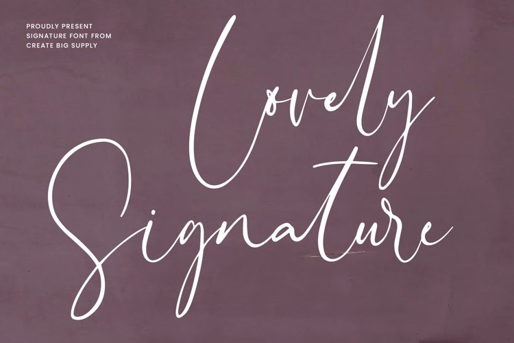 Lovely Signature example image 1