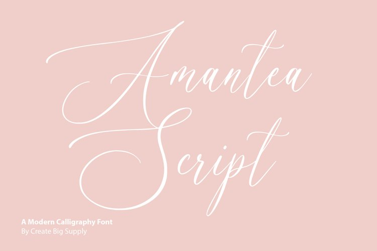 Amantea Script Font example image 1