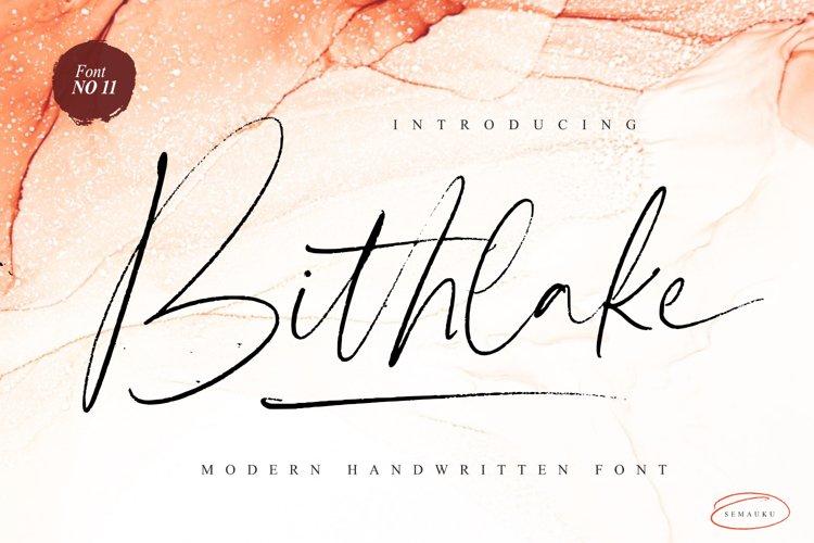 Bithlake Font example image 1