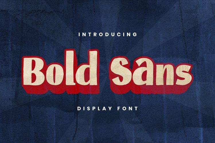 BOLDSANS Font example image 1