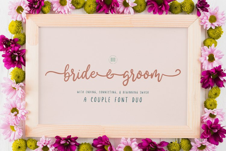 Bride and Groom - A Wedding Font Duo example image 1
