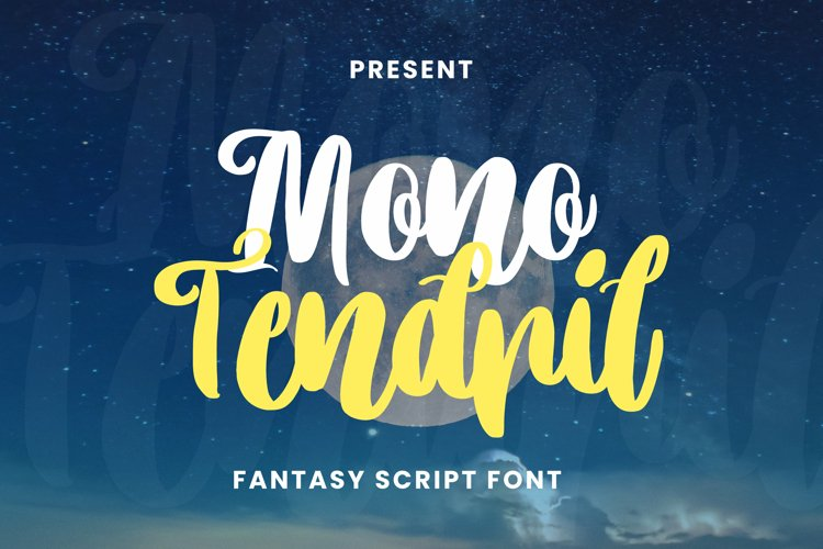 Mono Tendril Font