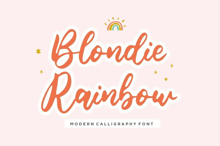 Blondie Rainbow Modern Calligraphy Font example image 1