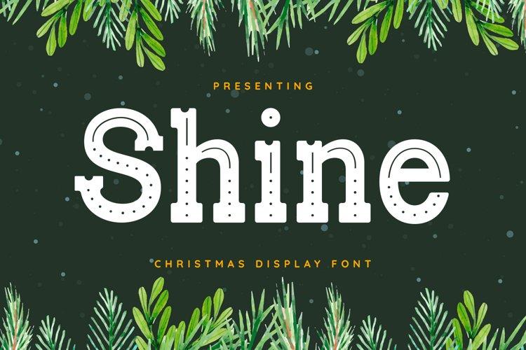 Shine Font example image 1