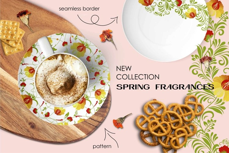 Marigolds. ETHNIC SET. Patterns and borders