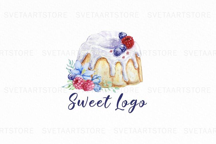 Bundt Cake Logo, Premade Logo Design