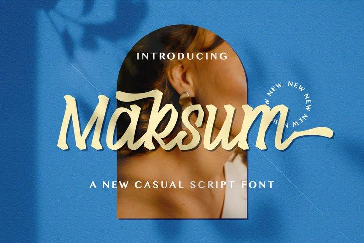 Maksum - Handwritten Font example image 1