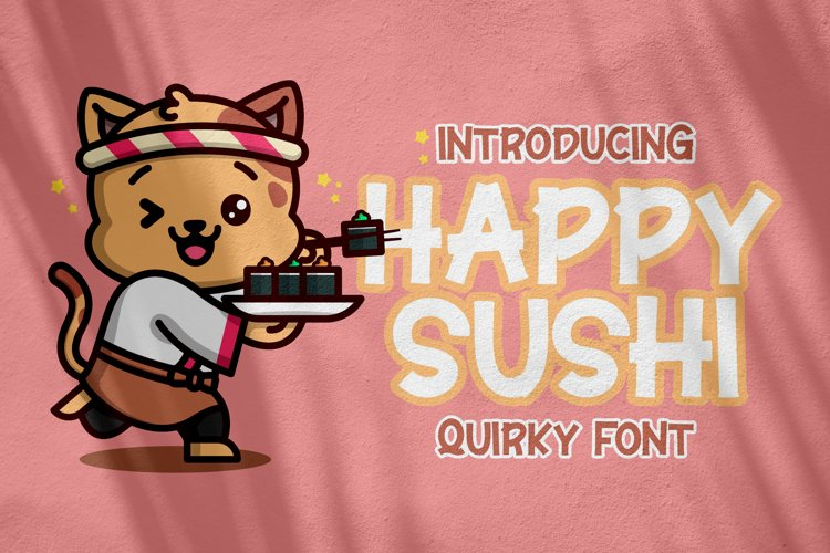Happy Sushi - Quirky Font example image 1