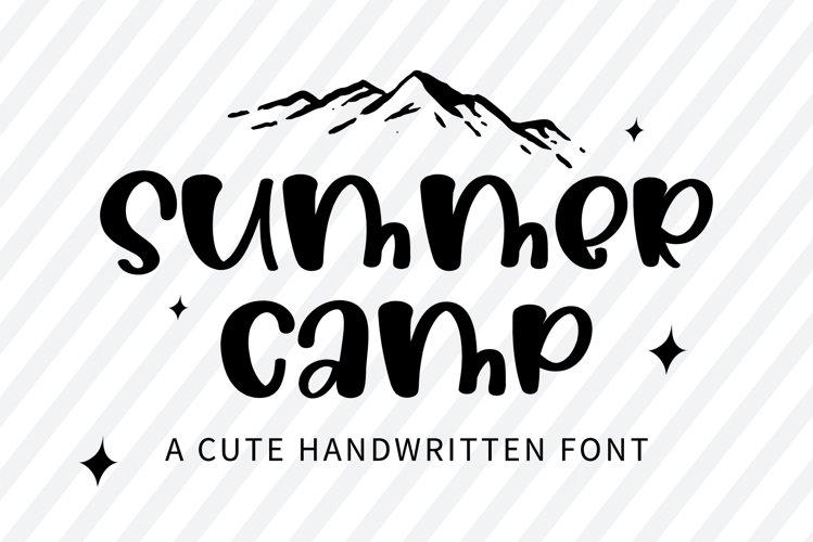 Summer Camp - A cute handwritten font