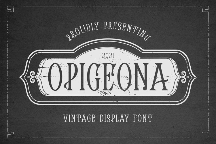OPIGEONA Font example image 1
