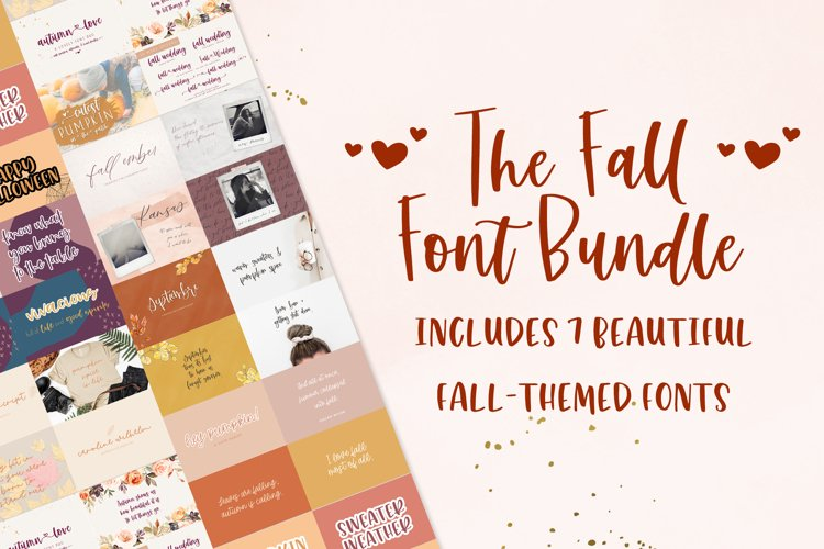 The Fall Font Bundle example image 1