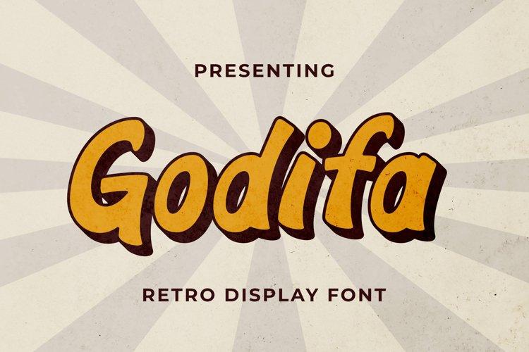 Godifa Font example image 1