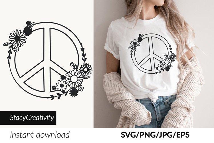 Hippie svg, Peace sign svg, Wildflower Svg