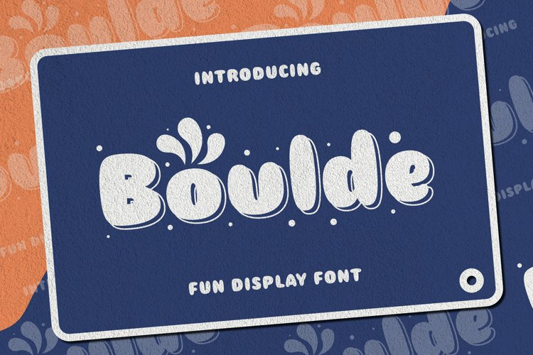 Boulde Font example image 1