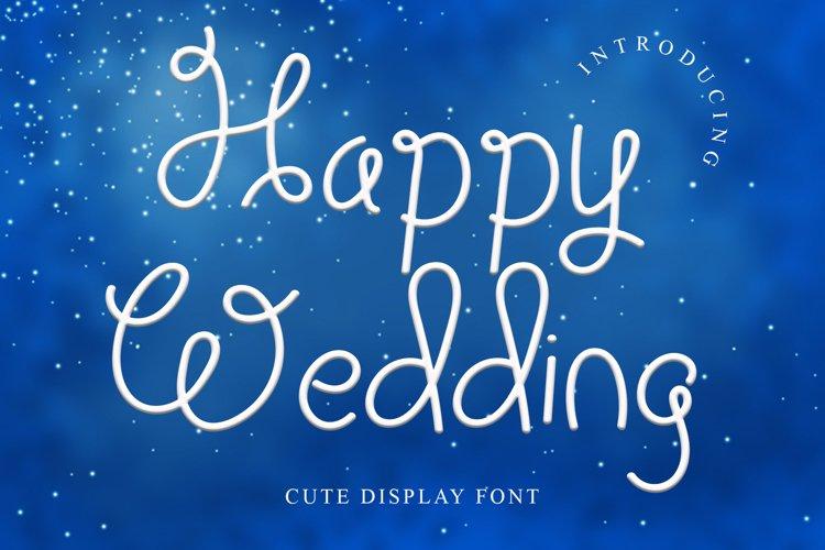 Happy Wedding Display font example image 1