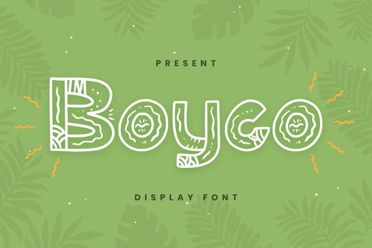 Boyco Font example image 1