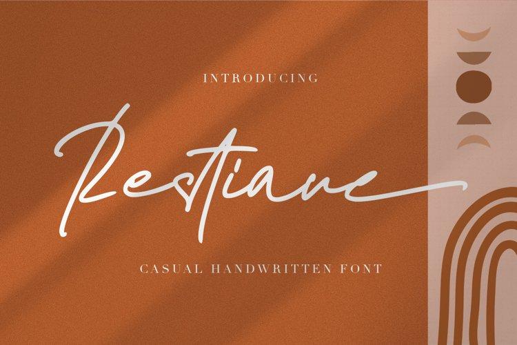 Restiane - Casual Handwritten Font example image 1
