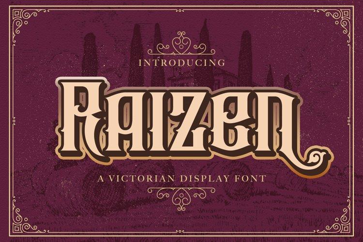 Raizen - Victorian Decorative Font example image 1