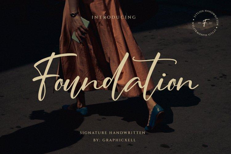 Foundation - Signature Font example image 1