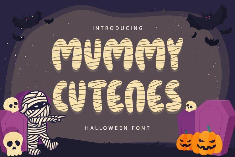 Mummy Cutenes - Halloween Font example image 1