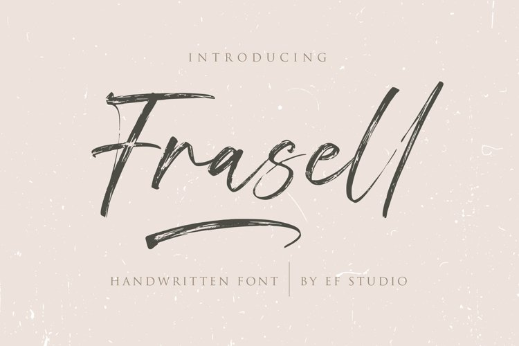 Frasell | Handwritten Font example image 1