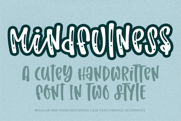 Mindfulness- A cute handritten font example image 1