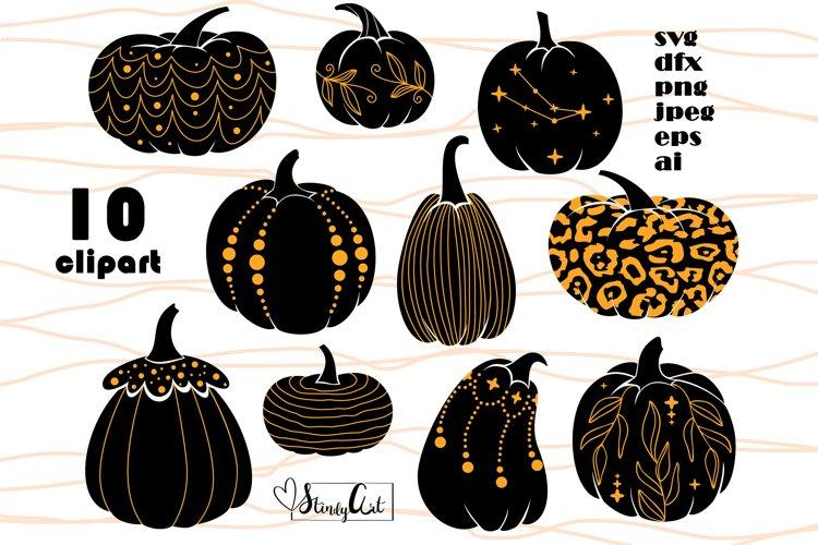 Pumpkin SVG bundle - 10 SVG/PNG files for Halloween designs