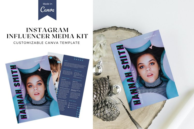 Instagram Influencer Media Kit Canva Templates example