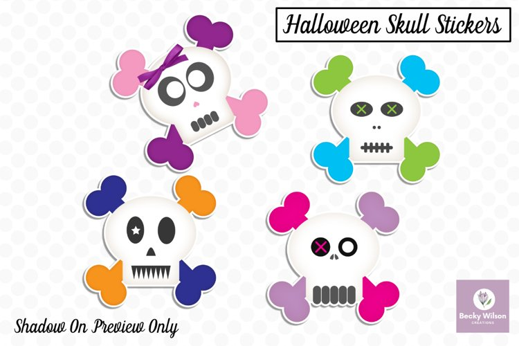 Cute Skull Boy/Girl Stickers example image 1