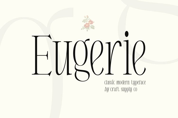 Eugerie - Classic Modern Typeface example image 1