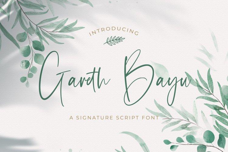 Gareth Bayu - Handwritten Font example image 1
