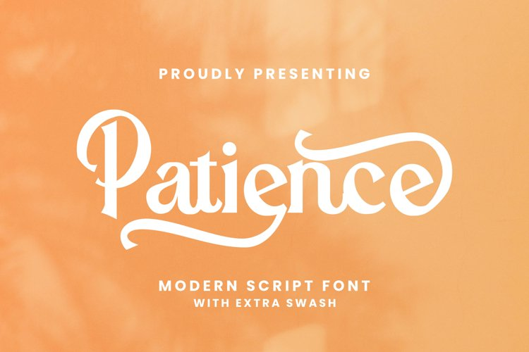 Patience Font example image 1